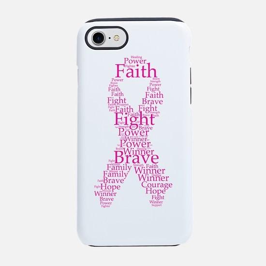 Cute Fight like a girl breast cancer iPhone 8/7 Tough Case
