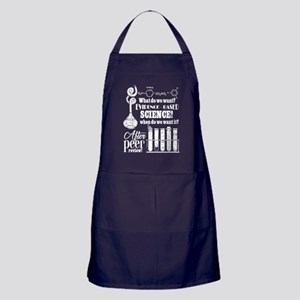 What Do We Want? Evidence Based Scien Apron (dark)