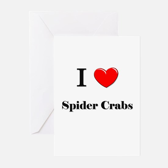 I Love Spider Crabs Greeting Cards (Pk of 10)