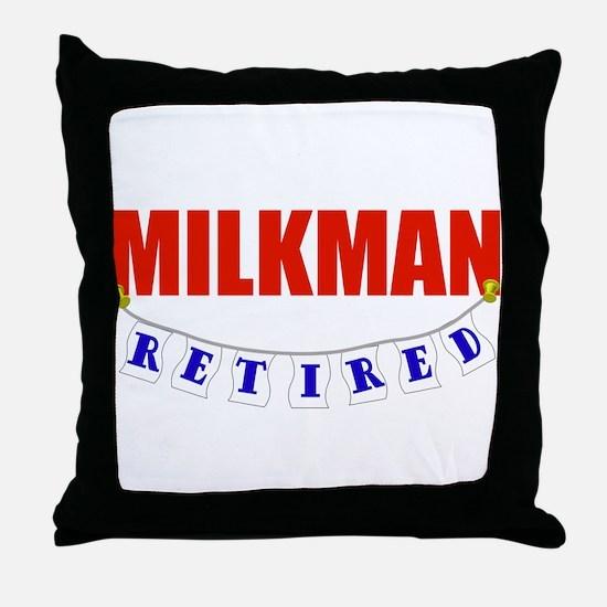 Retired Milkman Throw Pillow
