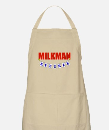 Retired Milkman BBQ Apron