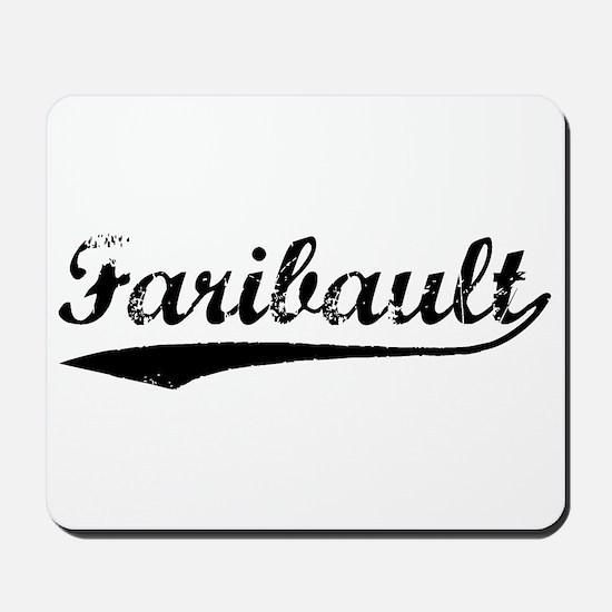 Vintage Faribault (Black) Mousepad