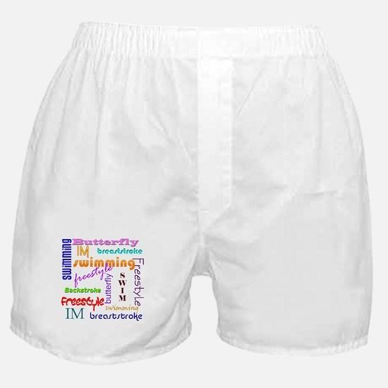 Swimming Everywhere Boxer Shorts