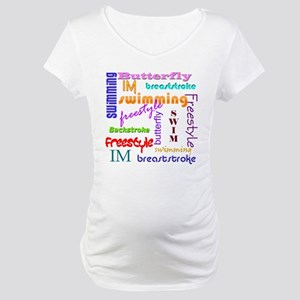 Swimming Everywhere Maternity T-Shirt