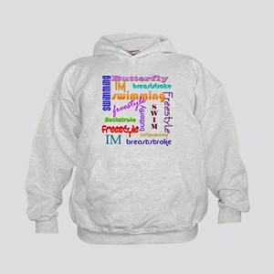 Swimming Everywhere Kids Hoodie
