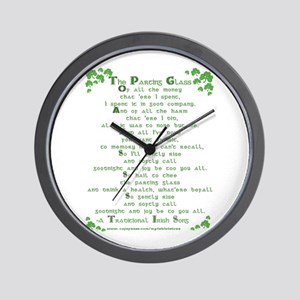 The Parting Glass Wall Clock