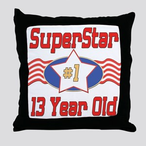 Superstar at 13 Throw Pillow