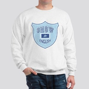 English Show Blue Sweatshirt