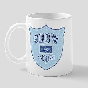 English Show Blue Mug