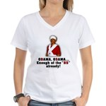 Obama Osama Cut the BS Women's V-Neck T-Shirt