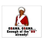 Obama Osama Cut the BS Small Poster