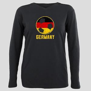 German Football Flag Of Germany Soccer Bal T-Shirt