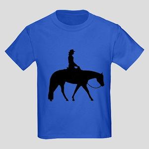Western silhouette female Kids Dark T-Shirt