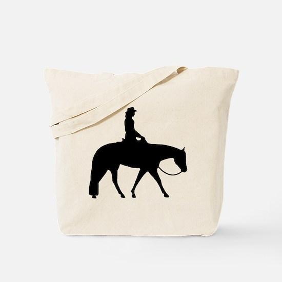 Western silhouette female Tote Bag