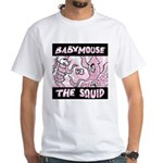"""""""Babymouse vs. The Squid"""" White T-Shirt"""