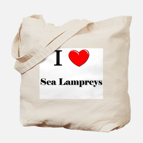 I Love Sea Lampreys Tote Bag