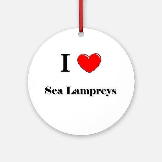 I Love Sea Lampreys Ornament (Round)