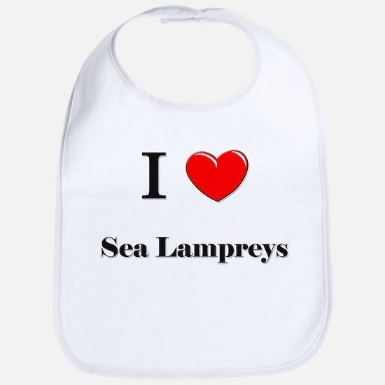 I Love Sea Lampreys Bib