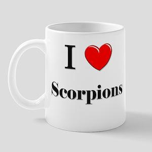 I Love Scorpions Mug