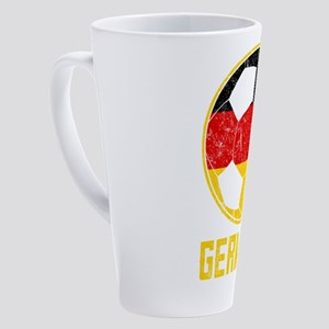 German Football Flag Of Germany So 17 oz Latte Mug
