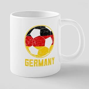 German Football Flag Of Germany Soccer Ball D Mugs