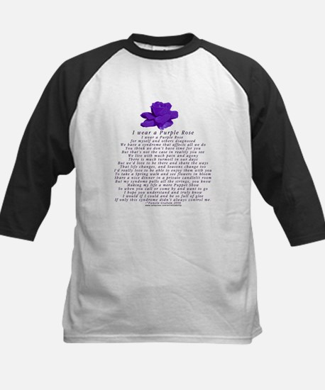 I Wear a Purple Rose Kids Baseball Jersey