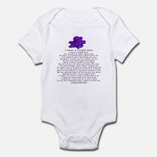 I Wear a Purple Rose Infant Bodysuit