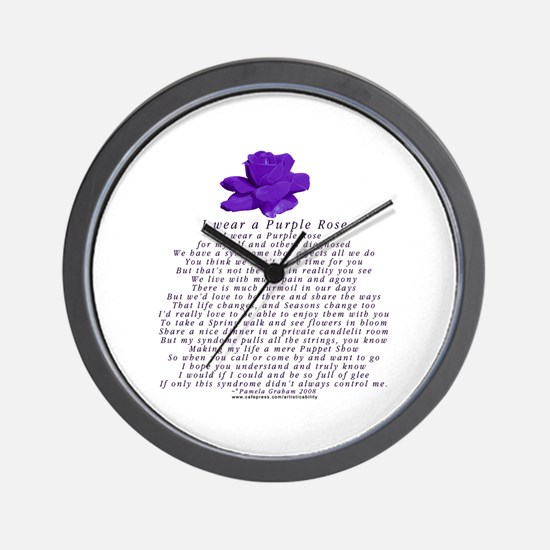 I Wear a Purple Rose Wall Clock