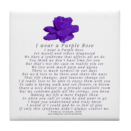I Wear a Purple Rose Tile Coaster