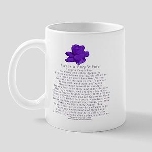 I Wear a Purple Rose Mug