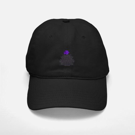 I Wear a Purple Rose Baseball Hat