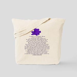 I Wear a Purple Rose Tote Bag