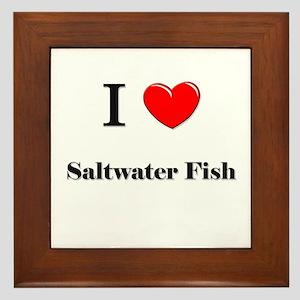 I Love Saltwater Fish Framed Tile