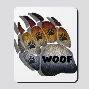 SHADOWED WOOF BEAR PRIDE PAW Mousepad