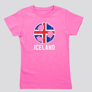 Icelandic Football Flag Of Iceland Soccer T-Shirt
