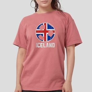 Icelandic Football Flag Of Iceland Soccer T-Shirt