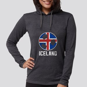 Icelandic Football Flag Of Ice Long Sleeve T-Shirt