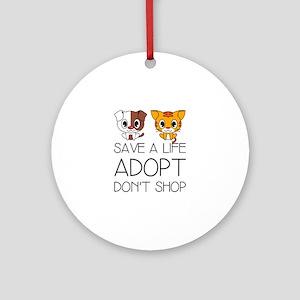 Adopt Don't Shop Round Ornament