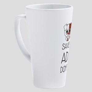 Adopt Don't Shop 17 oz Latte Mug