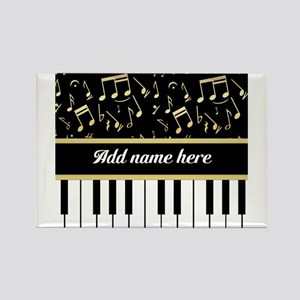 Personalized Piano and musical notes Magnets