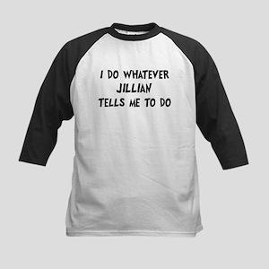 Whatever Jillian says Kids Baseball Jersey