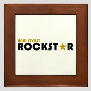 Hair Stylist Rockstar 2 Framed Tile