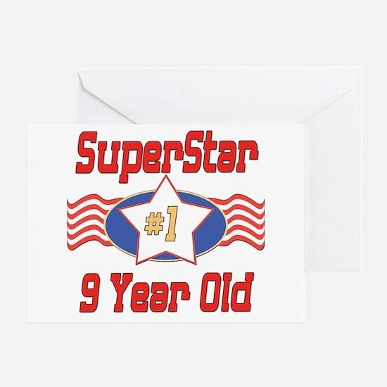 Superstar at 9 Greeting Card