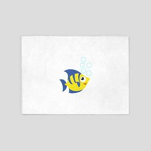 cute fish 5'x7'Area Rug