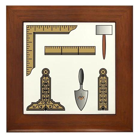 Masonic Working Tools Framed Tile