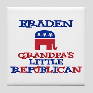 Braden - Grandpa's Little Rep Tile Coaster