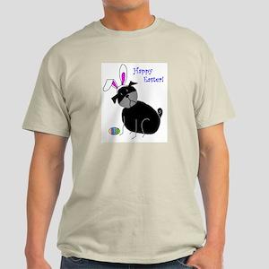 Easter StickPug (Black) Light T-Shirt