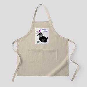 Easter StickPug (Black) BBQ Apron