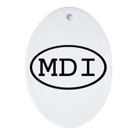 MDI Oval Oval Ornament
