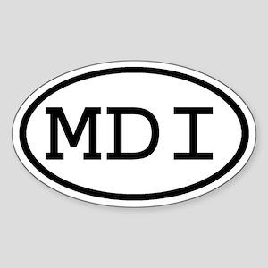 MDI Oval Oval Sticker